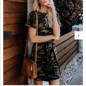 Vici collection camo shirt dress